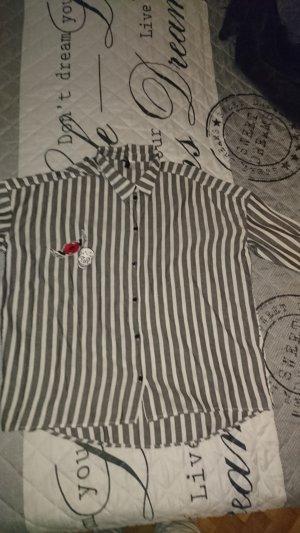H&M Chemise à manches longues noir-argenté polyester