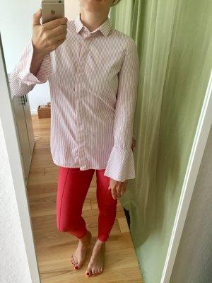 Hemd gestreift weiß rot von Massimo Dutti