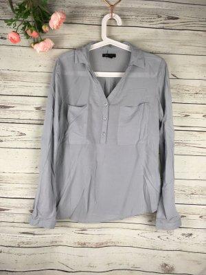 Hemd Größe S fallender Stoff, sehr leicht, grau hellgrau Langarmhemd