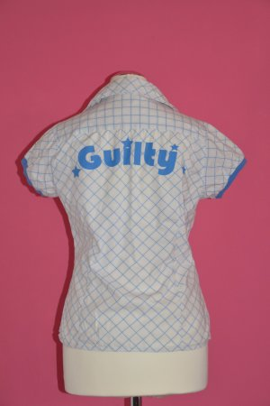 "Hemd ""Guilty"" weiß-blau Gr. S"