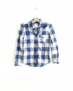 hemd • hemdbluse • abercrombie & fitch • karo • kariert • countrystyle • blau • weiß