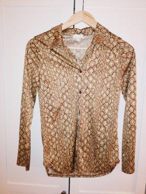 Kookai Camisa de vestir color bronce-marrón oscuro