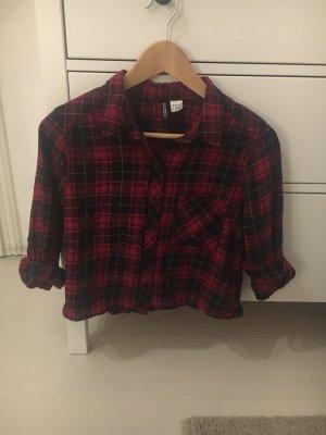 H&M Chemise noir-bordeau