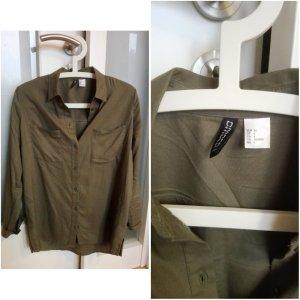 Hemd in olivgrün von H&M