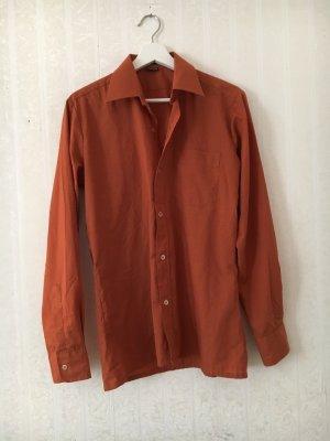 Long Sleeve Shirt brown-dark orange