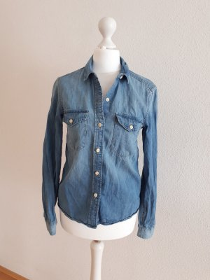 Hemd Jeanshemd Bluse Damenbluse Jeansbluse blau Gr.32 34 XS S H&M