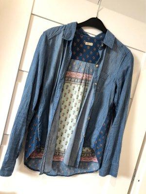 Hemd Jeansoptik Flowerprint Hollister