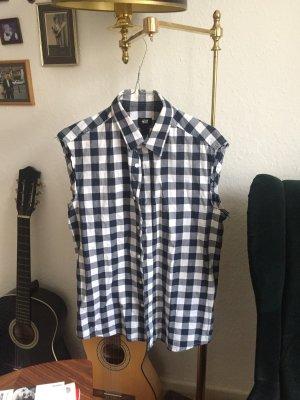 H&M Lumberjack Shirt white-dark blue