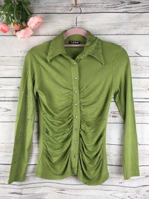 Hemd Khakigrün mit schönen Raffungen vorne