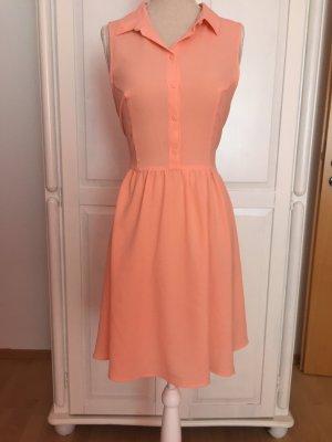 Hemd-Kleid korall leicht sommer rosa rot
