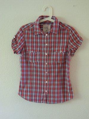 Hemd kurzärmelig, Karo rot/Blau