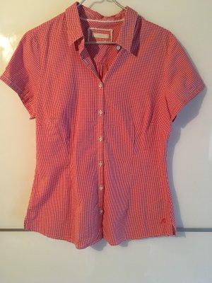 Chemise à manches courtes blanc-rouge