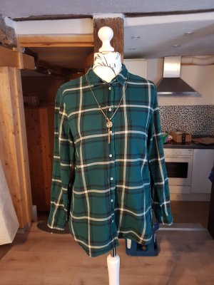 Hemd Langarm Bluse Gr. M dunkelgrün