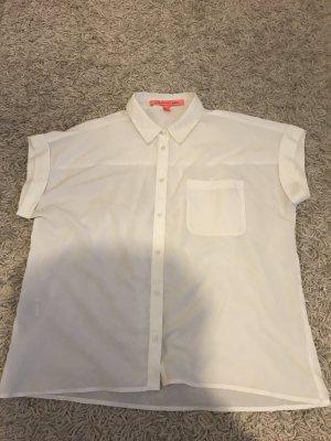 Mango Basics Shirt met korte mouwen wit Polyester
