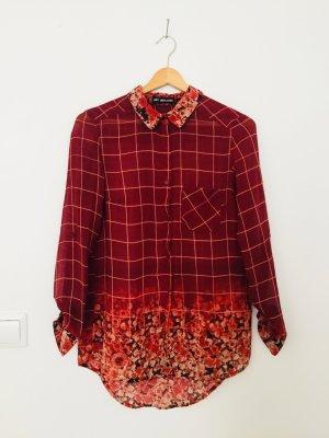 24Colours Camisa de manga larga carmín-burdeos