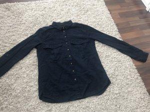yfl RESERVED Shirt met lange mouwen donkerblauw