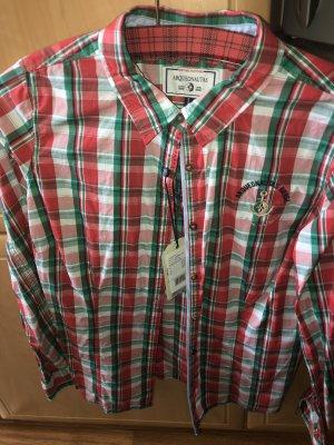 Arqueonautas Shirt met lange mouwen donkerrood-groen