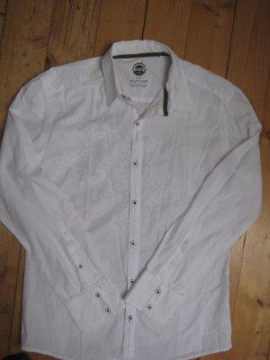 Hemd QS by S.Oliver Medium mit weißer Stickerei für Sie und Ihn