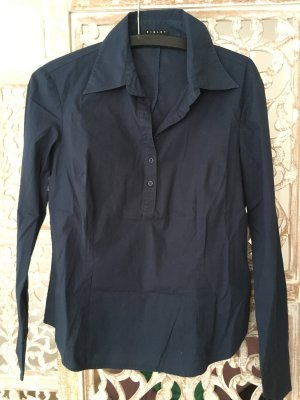 Sisley Long Sleeve Shirt dark blue cotton