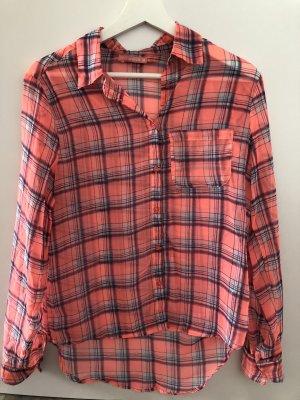 Camisa de manga larga rosa neón