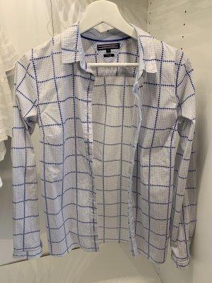 Tommy Hilfiger Chemise à manches longues blanc-bleu azur
