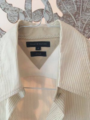 Tommy Hilfiger Camisa de manga larga crema-blanco Algodón