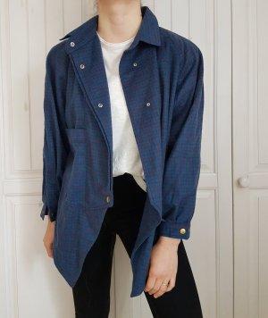 Hemd true vintage oversize kariert blau rot Bluse pulli pullover sweater hoodie tshirt shirt t-shirt