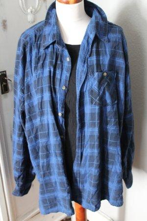 Hemd Urban Outfitters Oversize Blau Karomuster