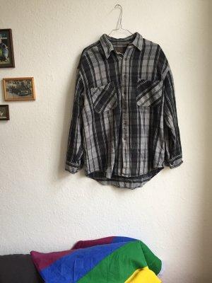 Vintage Camisa de leñador gris-gris claro