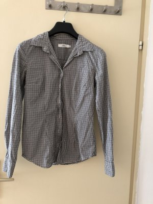 0039 Italy Chemise à manches longues blanc-noir coton
