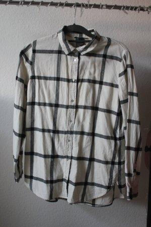 H&M Houthakkershemd wit-donkergrijs