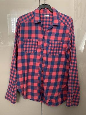 Hollister Flannel Shirt red-blue