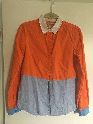 Hemd von Kimi Gr. 36 in Orange-blau gestreift