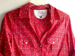 Mango Camisa de leñador rojo-negro