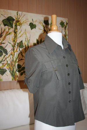 Michele Boyard Colletto camicia verde oliva Tessuto misto