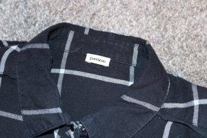 Pimkie Camisa de manga larga negro-blanco