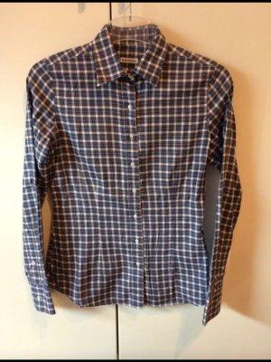 Robert Friedman Camisa de manga larga blanco-azul oscuro