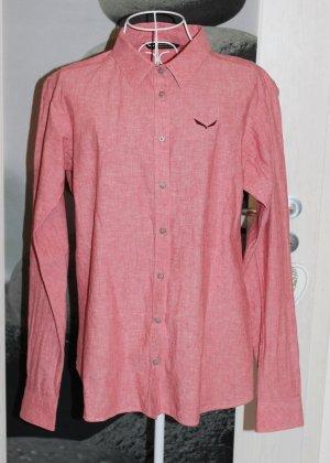 Salewa Camisa de manga larga rojo claro-rojo ladrillo