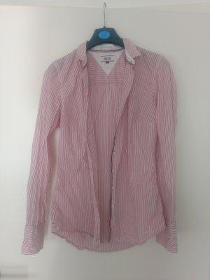 Tommy Hilfiger Camisa de vestir blanco-rojo frambuesa