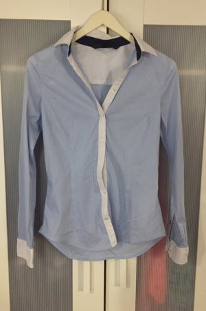 Zara Chemise blanc-bleu
