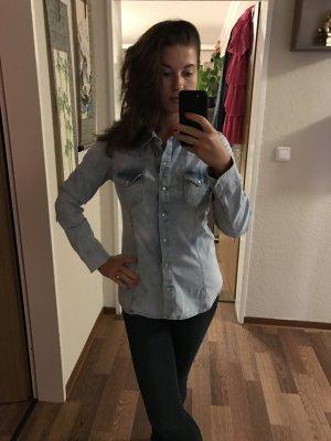 Zara Chemise en jean gris vert