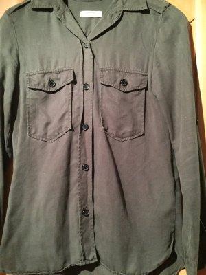 Zara Camisa de manga larga caqui-verde oliva