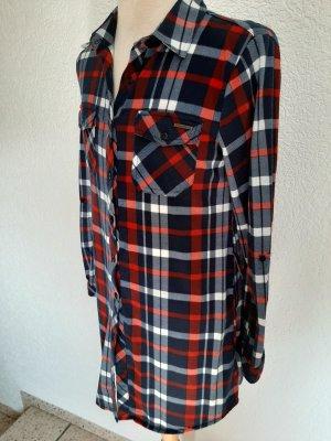 Hemdbluse, auch als Kleid tragbar