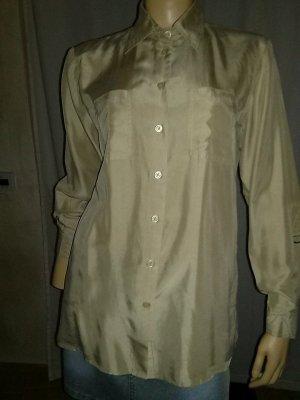 Best Connections Glanzende blouse beige Zijde