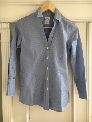 Brooks Brothers Shirt Blouse steel blue-white
