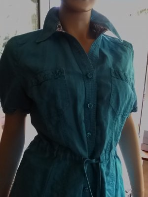 Long Blouse turquoise mixture fibre