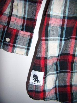 Hemdbluse Hemdkleid ATREEBUTES kariert schwarz weiß rot hellblau grau