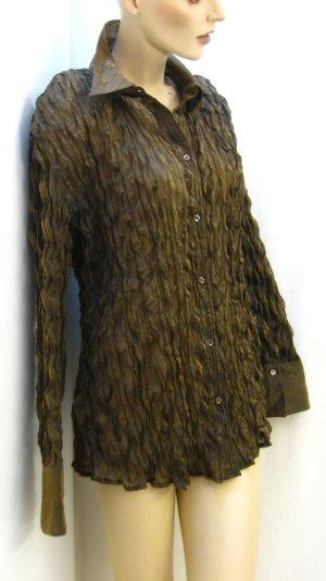 Hemdbluse, metallic Look (kupfer), Gr. 44(42), neuwertig