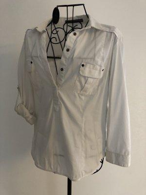 Hemdbluse mit aufgesetzten Taschen