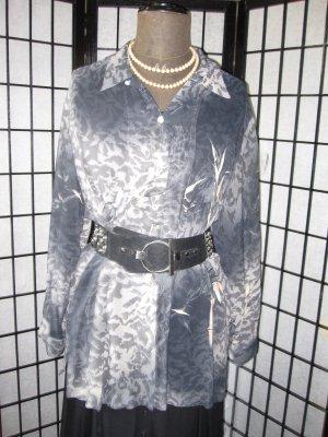 Hemdbluse mit echten Perlmutter Knöpfen Viskose Georgette